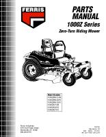 Ferris 1000Z Parts Manual