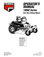 Ferris 1000Z Series Operator Manual