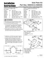 Ferris CCW 36 Skid Plate Kit