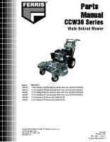 Ferris CCW36 Series Parts Manual
