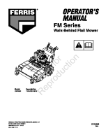 Ferris FM Series Flail Operator Manual