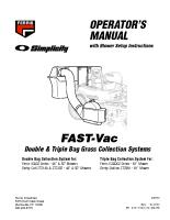 Ferris Fast-Vac Grass Bagger Operator Manual