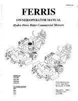 Ferris H22 Series & H32 Series Operator Manual