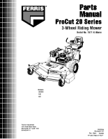 Ferris H22 Series Illustrated Parts Manual Serial 7671 & Above