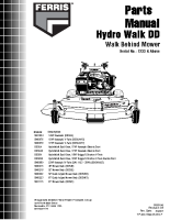 Ferris Hydro-Walk Dual Drive -Dual Drive S- Illustrated Parts Manual Serial 1233 & Above