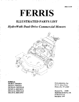 Ferris Hydro-Walk Dual Drive & Dual Drive S Illustrated Parts Manual