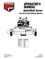 Ferris Hydro-Walk Dual Drive Operator Manual