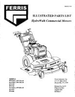 Ferris Hydro-Walk SD Illustrated Parts Manual