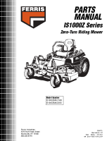 Ferris IS1000Z Illustrated Parts Manual
