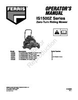 Ferris IS1500Z Operator Manual