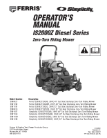 Ferris IS2000Z Export Series Operator Manual