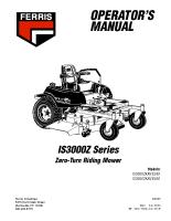 Ferris IS3000Z Operator Manual