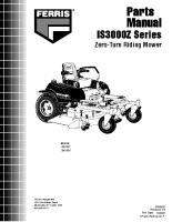 Ferris IS3000Z Parts Manual