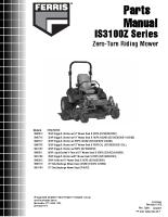 Ferris IS3100Z Parts Manual