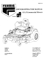 Ferris ISZ Series Operator Manual