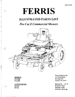 Ferris PCZ Illustrated Parts Manual Serial 501 &Up