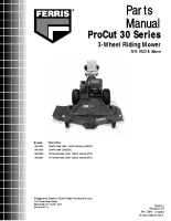 Ferris ProCut 30 Parts Manual