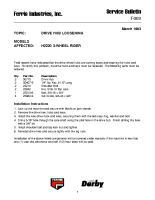 Ferris Service Bulletin F002 Drive hub loosening on the H2220 Series 3-Wheel Riders