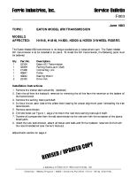 Ferris Service Bulletin F003 Eaton model 850 transmission replacement for the H16, H18, H20 & H25 Series 3-Wheel Riders