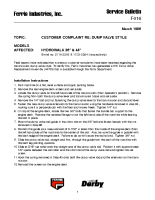 Ferris Service Bulletin F016 Customer complaint regarding dump valve style on the HydroWalk Single Drive Series.