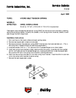 Ferris Service Bulletin F018 Hydro belt tension spring on the HW32, HW36 & HW48 models