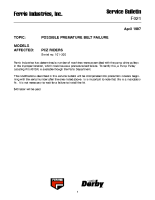 Ferris Service Bulletin F021 Possible premature belt failure on the PCZ Riders (Serial No. 101 – 300)