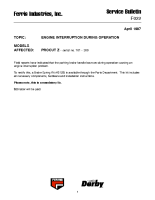 Ferris Service Bulletin F022 Engine interruption during operation on the ProCut Z models (Serial No. 101 – 300)