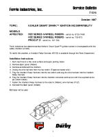 Ferris Service Bulletin F026 Kohler Smart Spark ignition incompatibility on the H22 Series 3-Wheel Riders & H32 Series 3-Wheel Riders & ProCut Z Series
