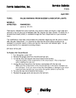 Ferris Service Bulletin F035 False warning from buzzer and indicator lights on the IS4000Z_D31 model (Serial No. 101 – 275)