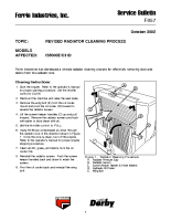 Ferris Service Bulletin F057 Revised radiator cleaning process for the IS5000Z_C31D model