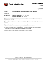 Ferris Service Bulletin F064 Possible pinched or kinked fuel hoses on the IS3000ZFKAV2561 model Serial No. 101 – 1320 & IS3000ZXK27_61 model Serial No. 101 – 503