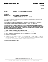 Ferris Service Bulletin F067 Difficulty adjusting tracking on Dual Drive S models Serial No. 4336 & above