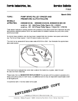 Ferris Service Bulletin F068 Pump drive pulley spacer and premature clutch failure on the IS5000Z Series diesel models (Serial No. 101 – 881)