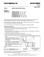 Ferris Service Bulletin F069 Wheel motor mounting on the 1000Z Series & IS1000Z Series models