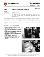 Ferris Service Bulletin F074 Slack in the engine wire harness on the IS1500ZKAV1944 model See Service Bulletin for Serial No. Range