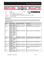 Ferris Service Bulletin F100 Fuel Starvation Caused By Inadequately Vented Fuel Caps