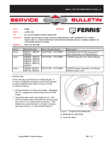 Ferris Service Bulletin F101 UPDATED Wheel Motor Axle Shaft Inspection and Nut Replacement of Hydro-Gear HGM- E Series Motors