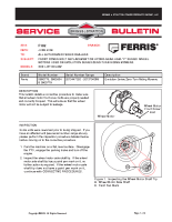 Ferris Service Bulletin F102 Front cover bolt replacement in Evolution hydro wheel motors