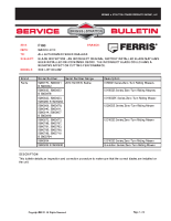 Ferris Service Bulletin F103 Blade Inspection – An Incorrect Original Factory Installed Blade may have been installed on iCD Mower Decks