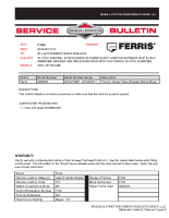 Ferris Service Bulletin F104 Clutch Spacing – A Difference in crank shaft lengths between 25HP & 26HP Kawasaki engines