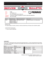 Ferris Service Bulletin F105 – Potential Contact Between Fuel Vent Hoses and Radiator