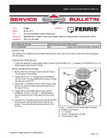 Ferris Service Bulletin F109 Mandatory Update Cooling Intake Debris Screen for Hydro-Drive Units