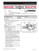 Ferris Service Bulletin F111 Service Bulletin F111 – Correcting the Clutch Stack-Up for Appropriate Clutch Retention