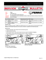 Ferris Service Bulletin F113 – Mandatory Drive Tensioning Spring Update On IS600Z & IS700Z Units