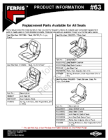 Ferris PI-63 replacement seat parts