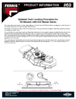 Ferris PI-69 Deck leveling procedure update