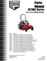 Ferris IS600Z Parts manual